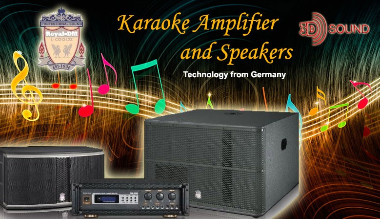 Royal-DM Karaoke Amplifier & Speakers